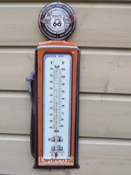 Lw197 thermometer Route 66  47x15cm
