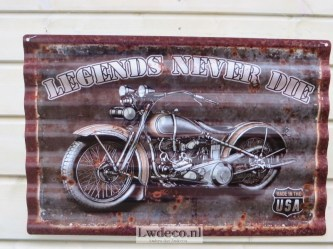 Lw788 legends never die 60x40cm a
