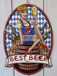 Lw909 Bierfeest Best Beer  65x45cm