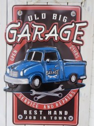 old big Garage 85x60cm