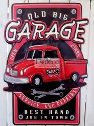 old big Garage rood 85x60cm